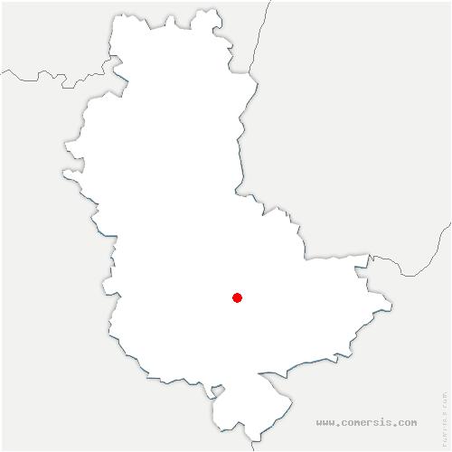 carte de localisation de Brindas