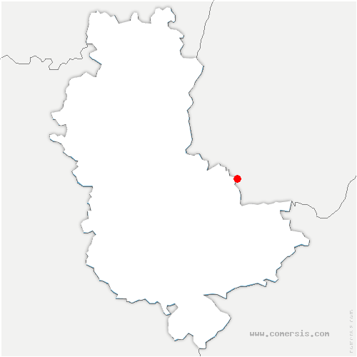 carte de localisation de Cailloux-sur-Fontaines