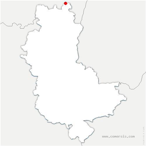 carte de localisation de Cenves