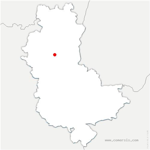 carte de localisation de Chamelet