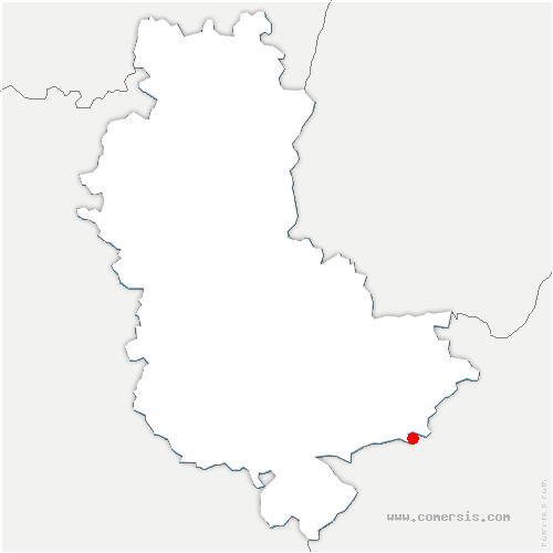 carte de localisation de Chaponnay