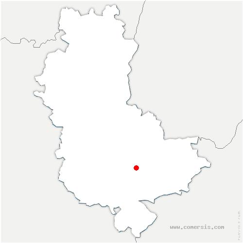 carte de localisation de Chaponost
