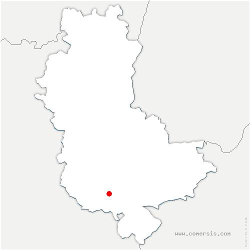 carte de localisation de Chaussan