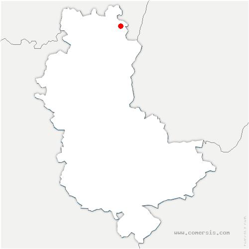 carte de localisation de Chénas