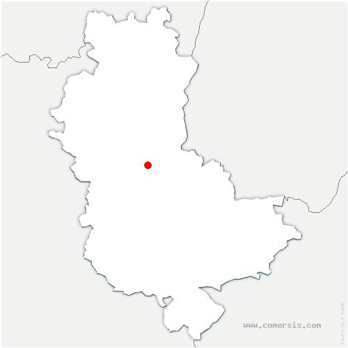 carte de localisation de Chessy