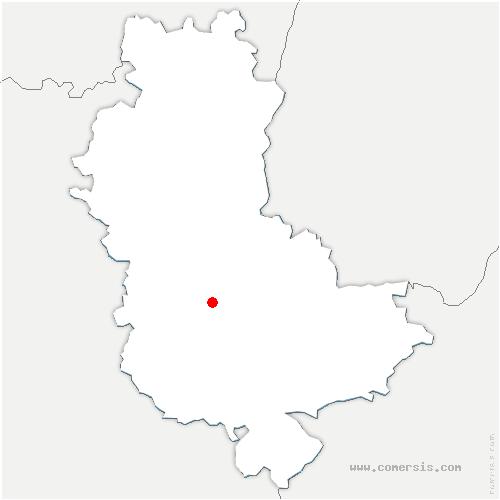 carte de localisation de Chevinay