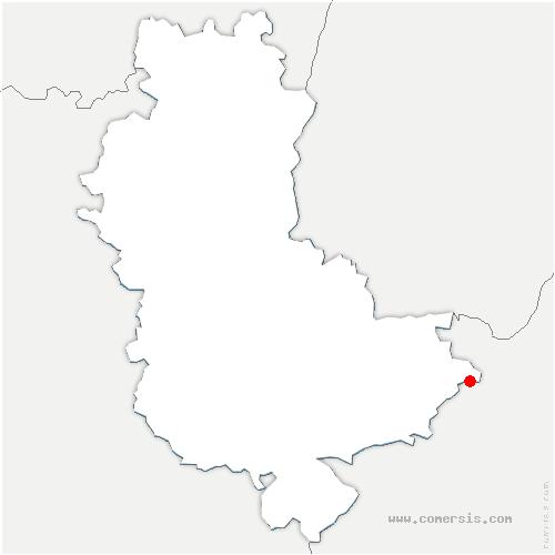 carte de localisation de Colombier-Saugnieu