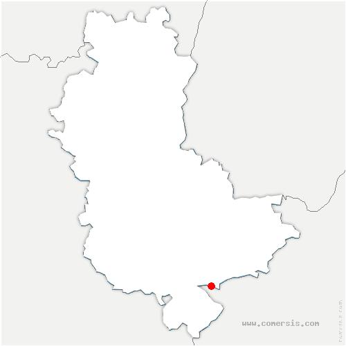 carte de localisation de Communay