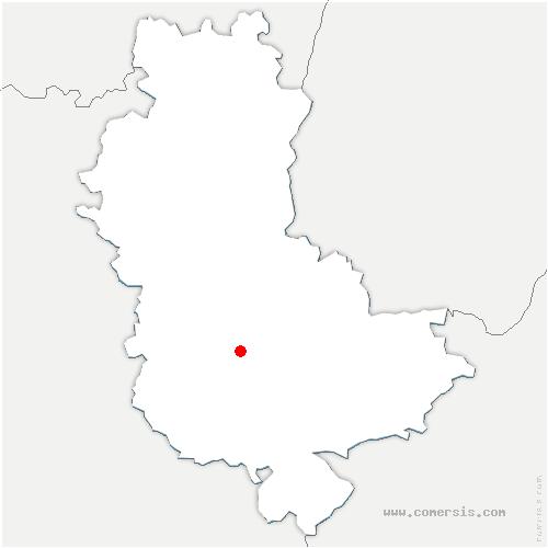 carte de localisation de Courzieu
