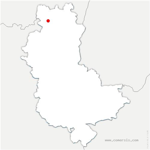 carte de localisation de Deux-Grosnes