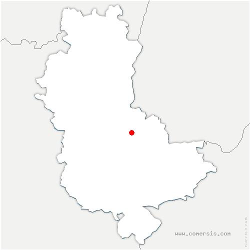 carte de localisation de Dommartin