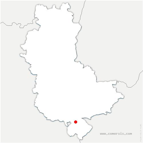 carte de localisation de Échalas