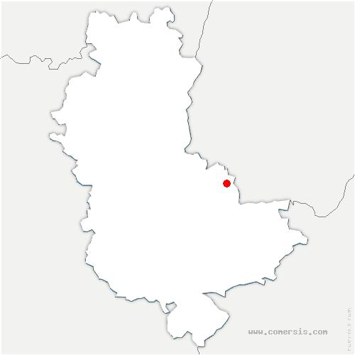 carte de localisation de Fleurieu-sur-Saône