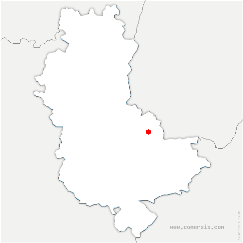 carte de localisation de Fontaines-Saint-Martin