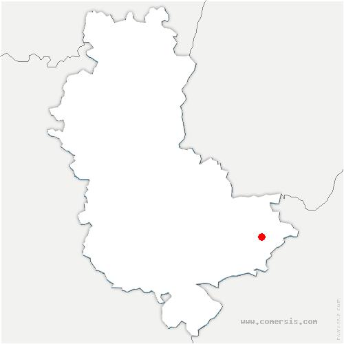 carte de localisation de Genas
