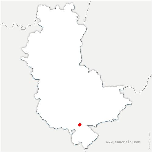 carte de localisation de Givors