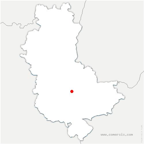 carte de localisation de Grézieu-la-Varenne