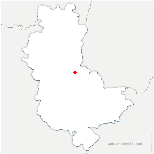carte de localisation de Lucenay