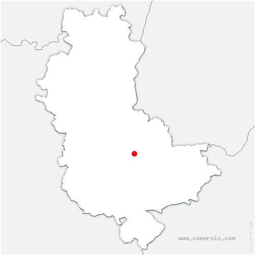 carte de localisation de Marcy-l'Étoile