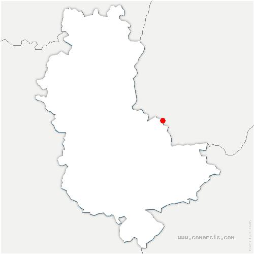 carte de localisation de Montanay