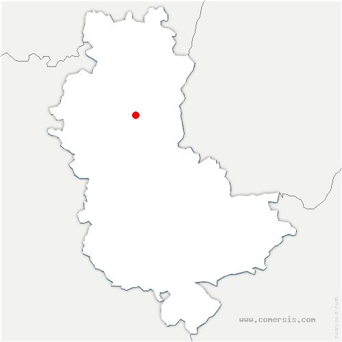 carte de localisation de Montmelas-Saint-Sorlin