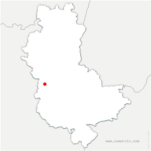 carte de localisation de Montrottier