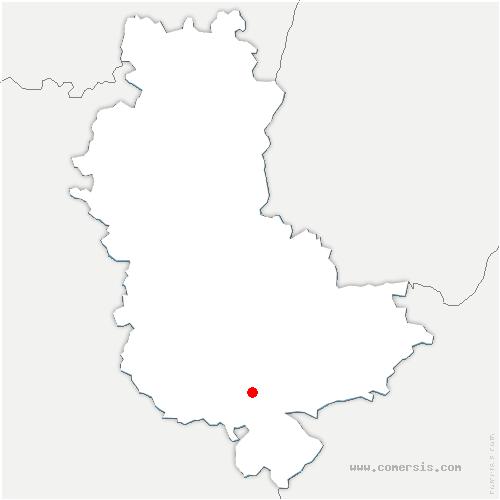 carte de localisation de Mornant