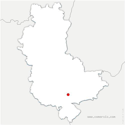 carte de localisation de Orliénas