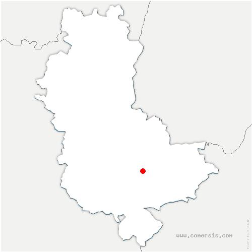carte de localisation de Oullins