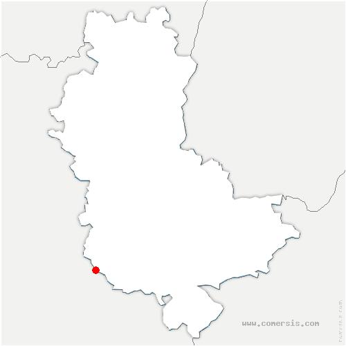 carte de localisation de Pomeys