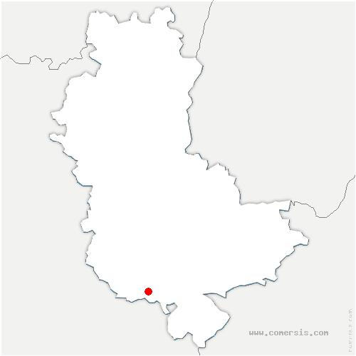 carte de localisation de Riverie