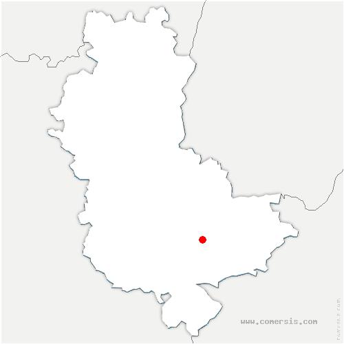 carte de localisation de Saint-Genis-Laval