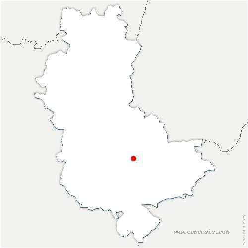 carte de localisation de Saint-Genis-les-Ollières