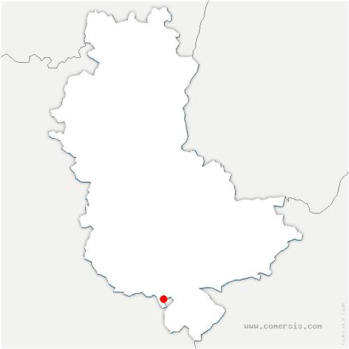 carte de localisation de Saint-Jean-de-Touslas