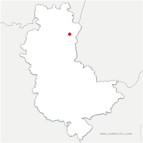 carte de localisation de Saint-Lager