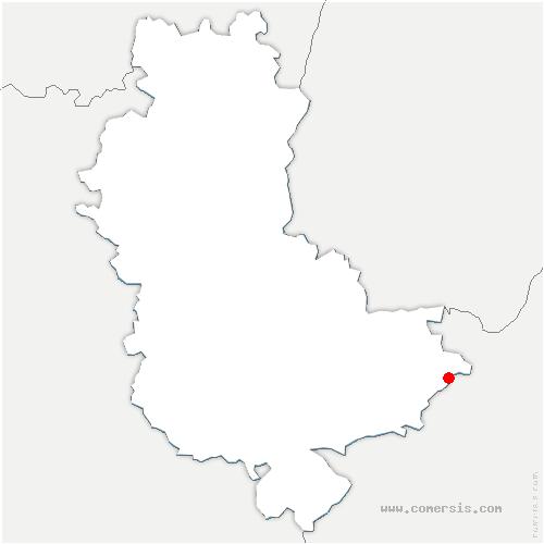 carte de localisation de Saint-Laurent-de-Mure