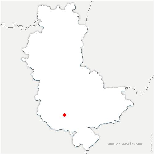 carte de localisation de Saint-Martin-en-Haut
