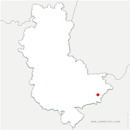 carte de localisation de Saint-Pierre-de-Chandieu