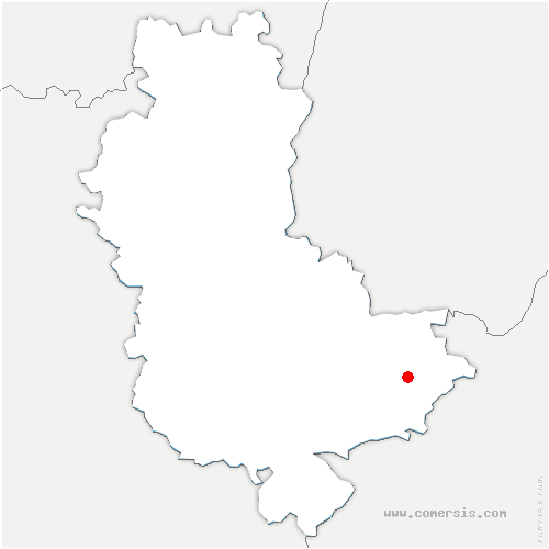 carte de localisation de Saint-Priest