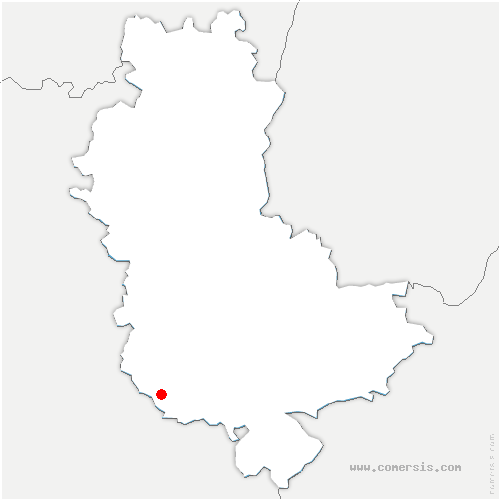 carte de localisation de Saint-Symphorien-sur-Coise