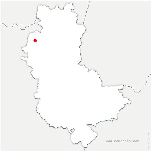 carte de localisation de Saint-Vincent-de-Reins