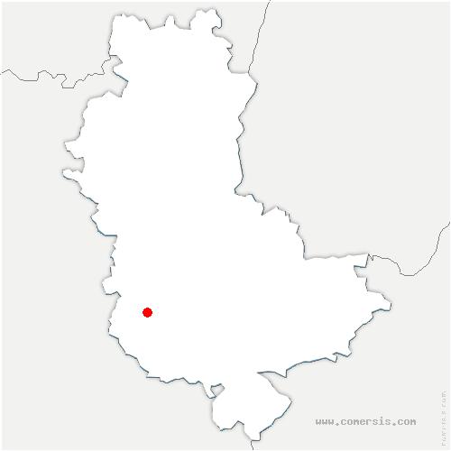 carte de localisation de Sainte-Foy-l'Argentière
