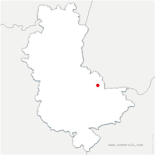 carte de localisation de Sathonay-Camp