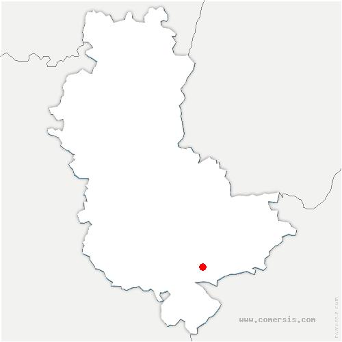 carte de localisation de Sérézin-du-Rhône