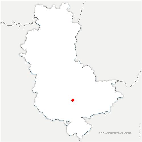 carte de localisation de Soucieu-en-Jarrest