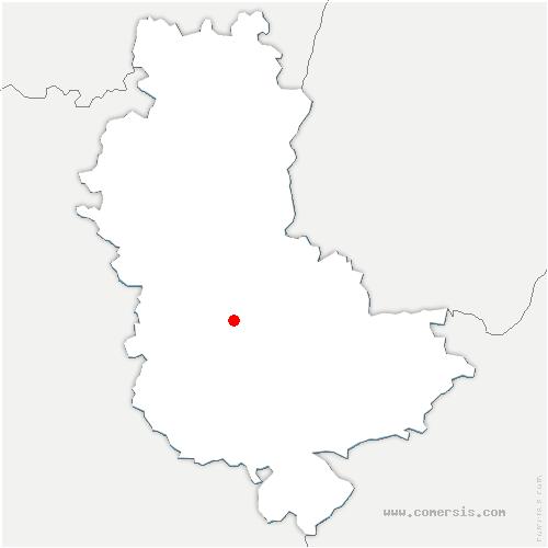 carte de localisation de Sourcieux-les-Mines