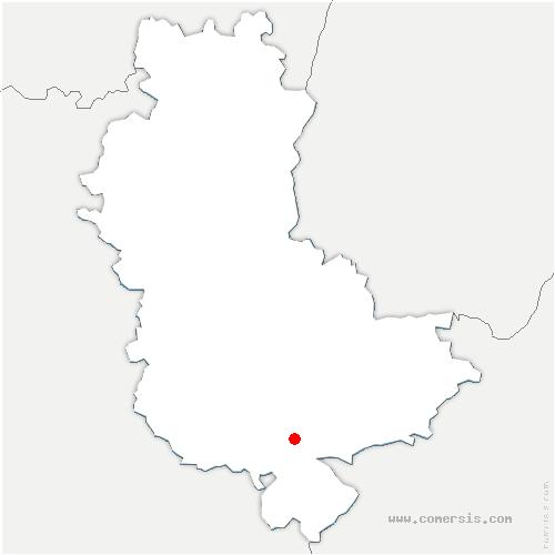 carte de localisation de Taluyers