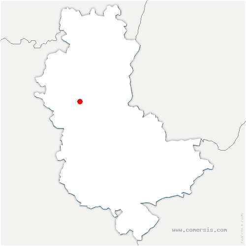 carte de localisation de Ternand