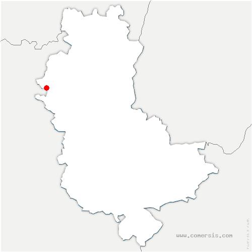 carte de localisation de Thizy-les-Bourgs