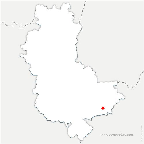 carte de localisation de Toussieu